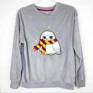 Harry Potter Hedwig Owl Velour Sleep Top Pajamas